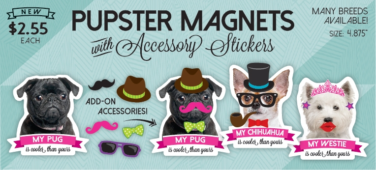 Pupster Magnets & Stickers