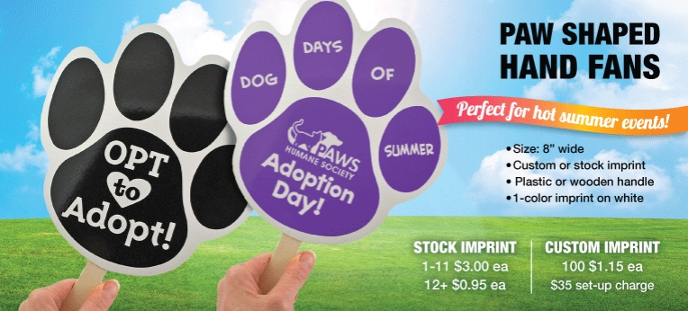 Paw Hand Fans