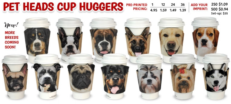 Pet Heads Cup Huggers BREEDS