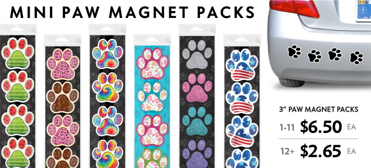 Mini Paw Magnet Packs