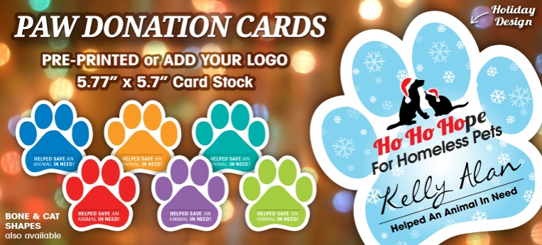 Paw Donation Cards