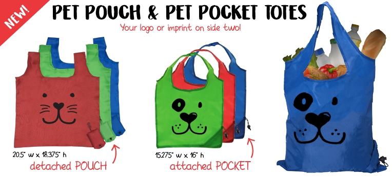 Pet Pocket and Pouch Totes