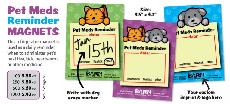 Pet Meds Reminder Magnet