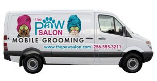 Mobile Grooming Van Graphics Animalsink