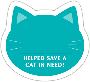 Cat Donation Card - Teal thumbnail