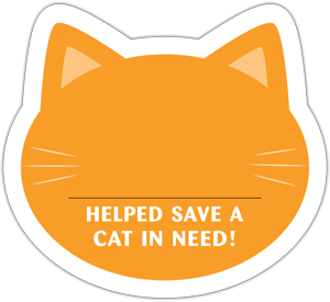 Cat Donation Card - Orange thumbnail
