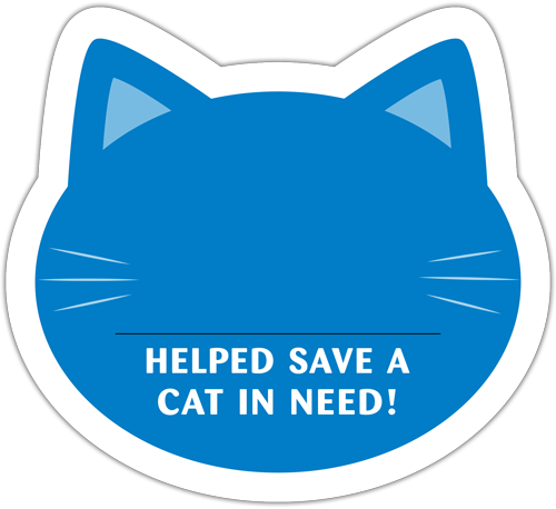 Cat Donation Card - Blue thumbnail