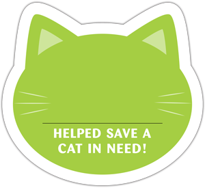 Cat Donation Card - Lime thumbnail