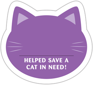 Cat Donation Card - Purple thumbnail