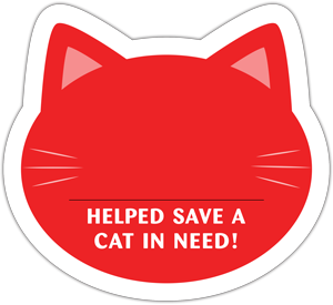 Cat Donation Card - Red thumbnail