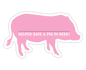 Pig Donation Card - Pink thumbnail
