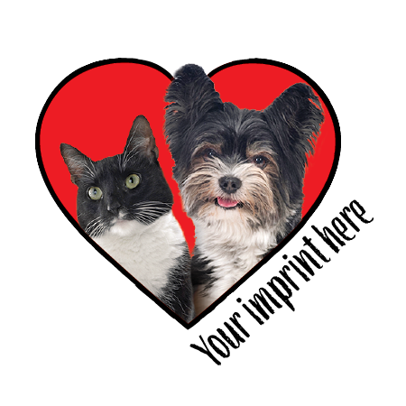 Dog and Cat in Heart thumbnail