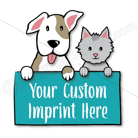 Dog and Cat holding sign thumbnail