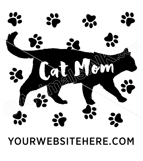 Cat Mom Silhouette (with paws) thumbnail