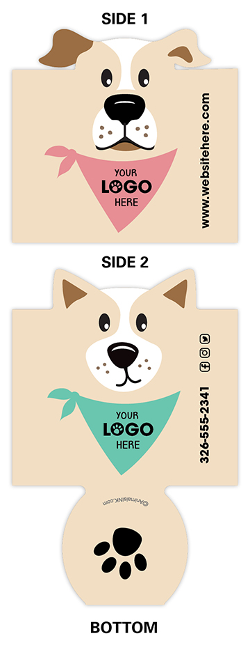 Dogs with Bandana (Beige, pink & mint) thumbnail