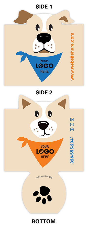 Dogs with Bandana (Beige, blue & orange) thumbnail