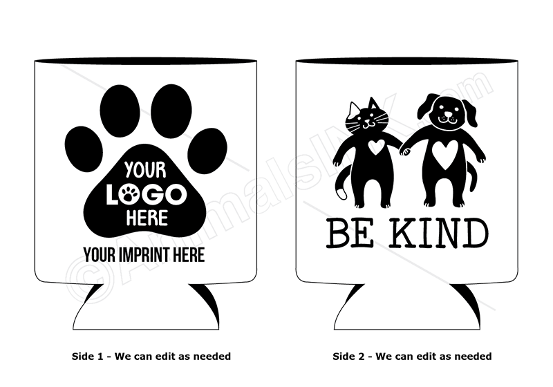 Be Kind (Dog and Cat holding hands) thumbnail