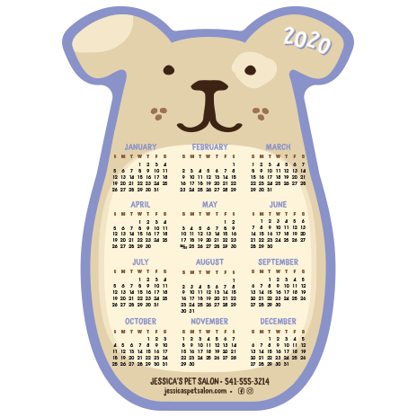 DOG Calendar - Purple thumbnail