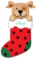 Holiday Stocking with Dog thumbnail
