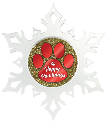 Red Paw on Gold Glitter thumbnail