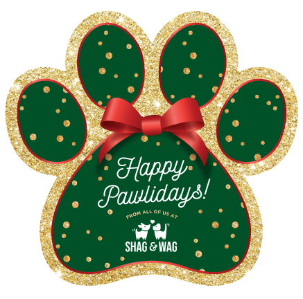 PAW - Green with Gold Glitter Dots  thumbnail