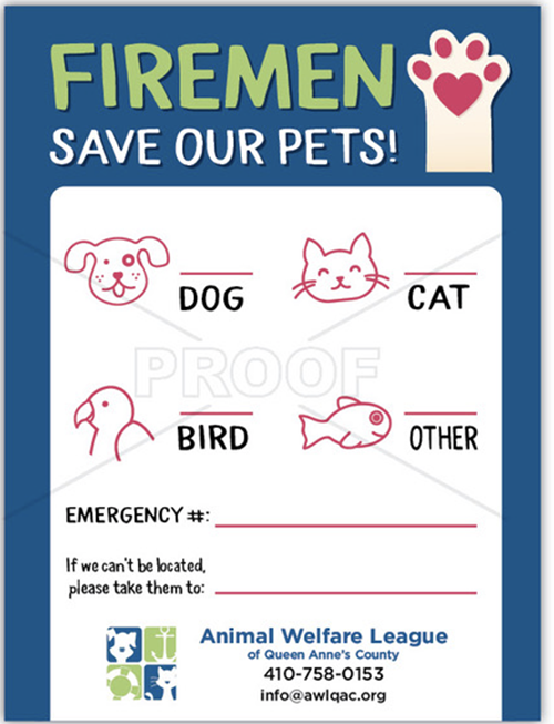 Pet Emergency - Paw and line drawings (BLUE) thumbnail