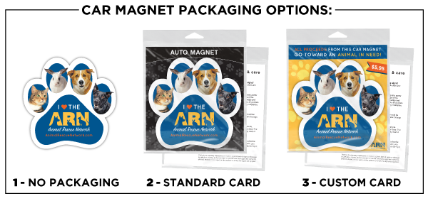 Car Magnet Packaging Options CART2
