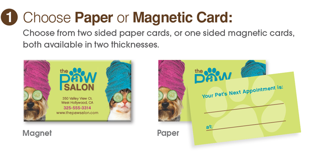 Paper or magnetic business cards animalsink paper or magnetic business cards colourmoves