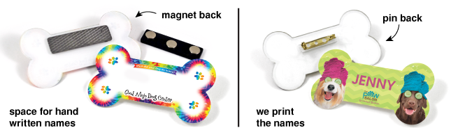 Bone Name Badge options